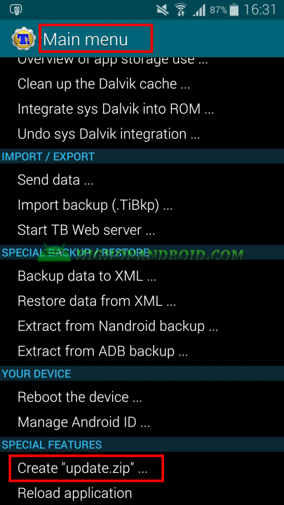 Android App Backup and Restore Titanium Backup 8
