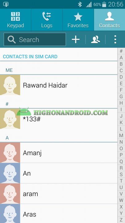 Android Contacts Backup 1