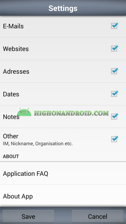 Android Contacts Backup MC7