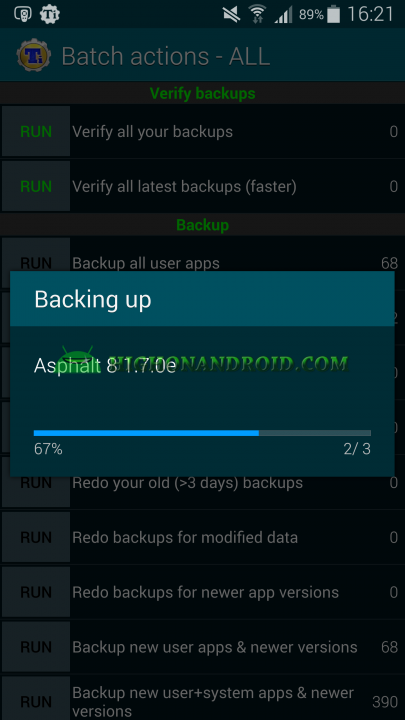 Android App Backup and Restore Titanium Backup 7