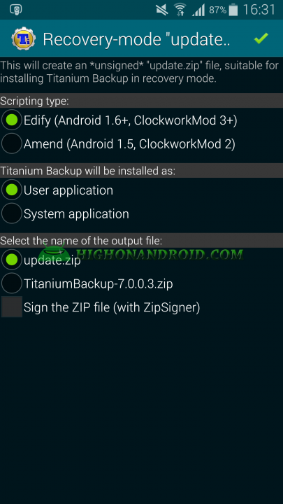 Android App Backup and Restore Titanium Backup 9