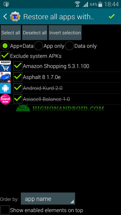 Android App Backup and Restore Titanium Backup 16