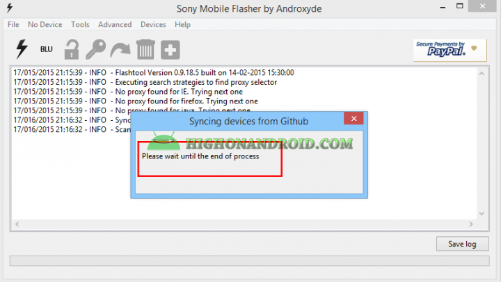 Sony Flashtool 11