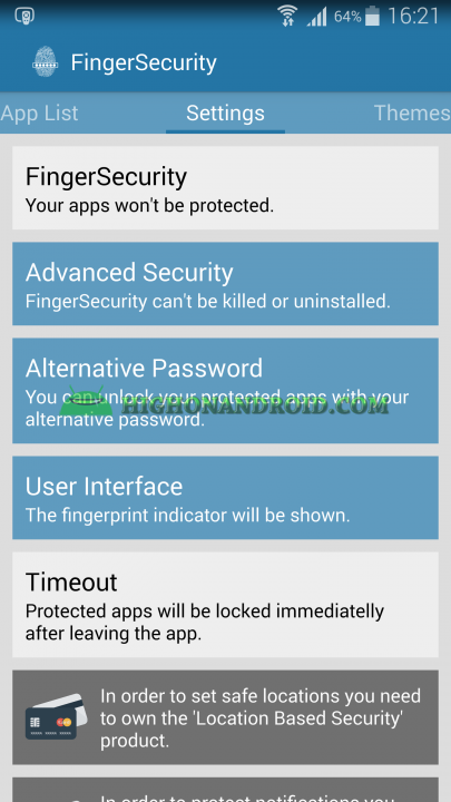 Unlock apps with Fingerprint using Galaxy Note 4  3