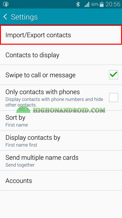 Android Contacts Backup 3