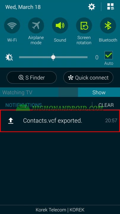 Android Contacts Backup 8