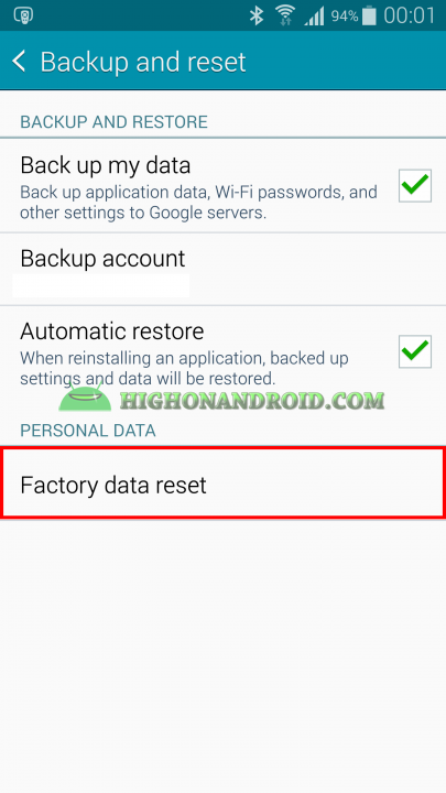 factory data reset Galaxy Note 4
