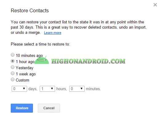 Android Contacts Backup 28