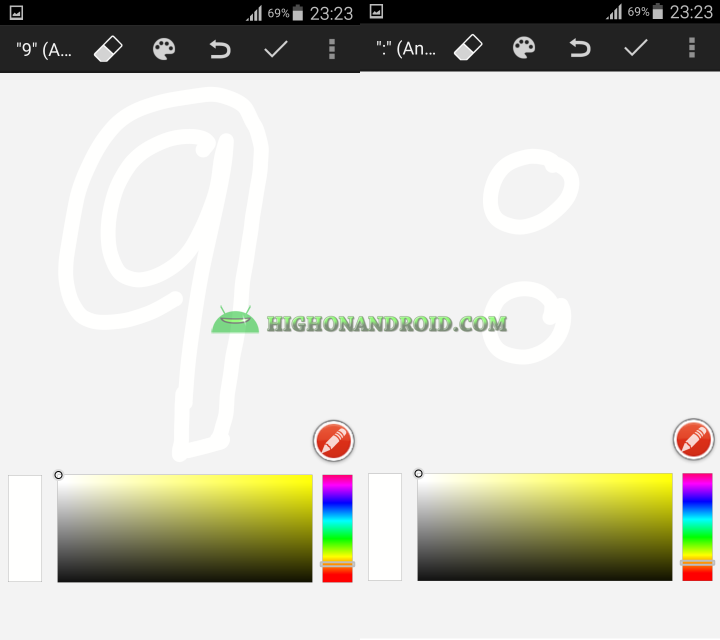 Android draw your own clock widget 10