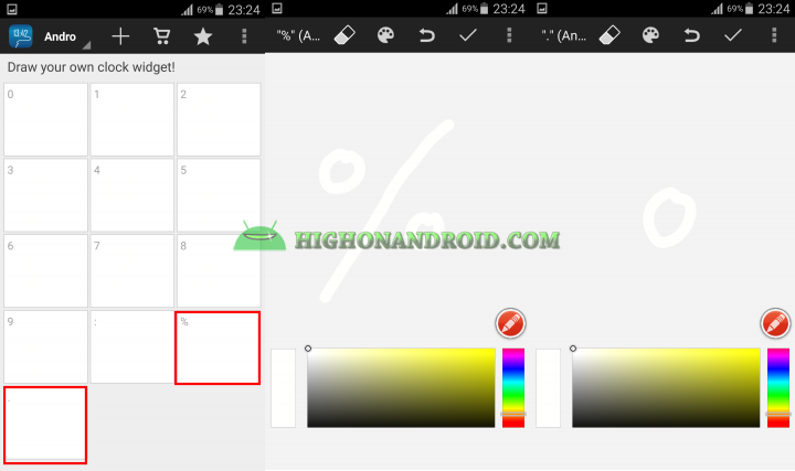 Android draw your own clock widget 13