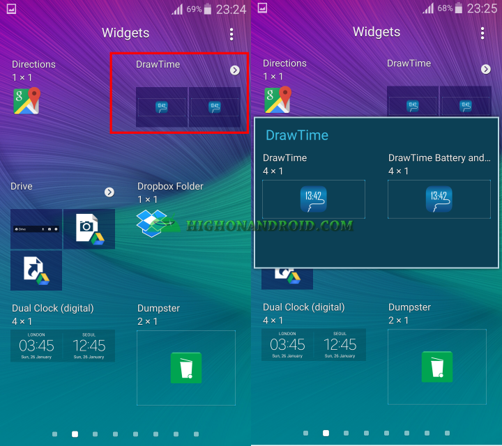 Android draw your own clock widget 16
