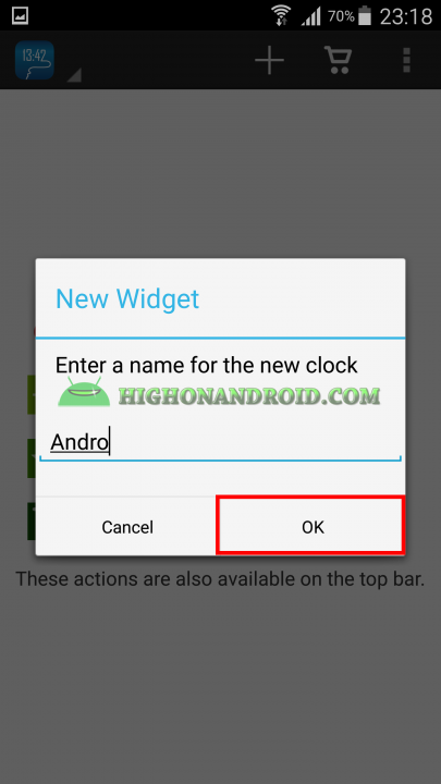 Android draw your own clock widget 2