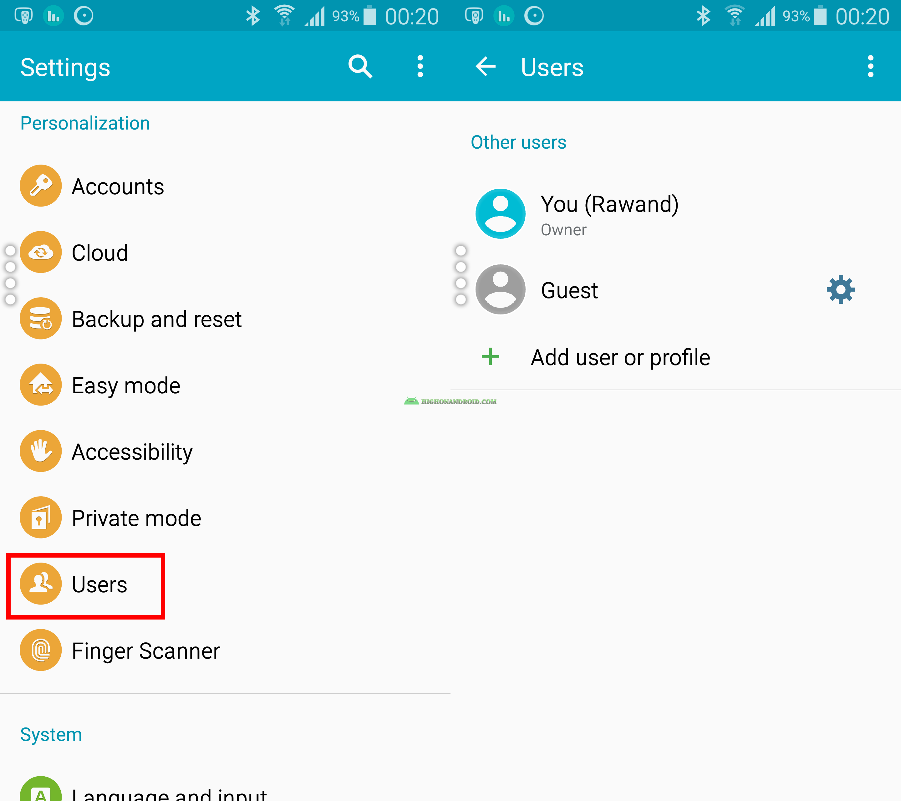 how to add webpage to samsung phone