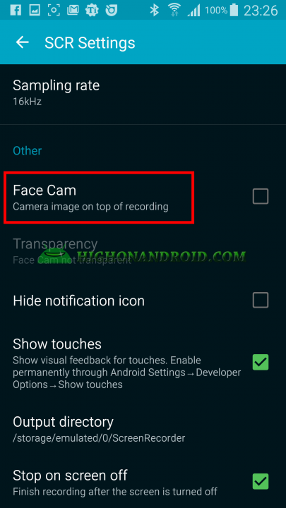 Record your android device's screen 8