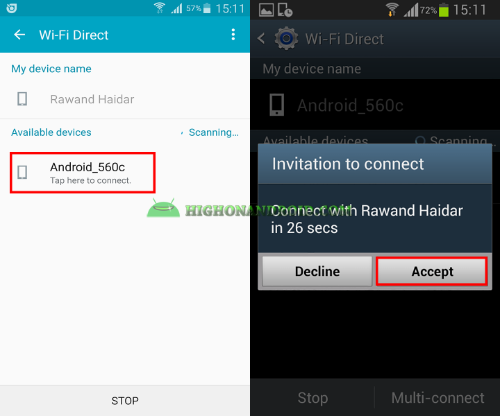 Transfer Large files Between Two Android Devices 4
