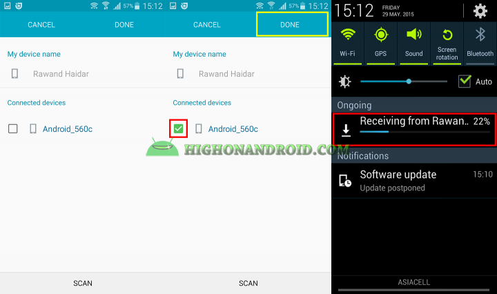 Transfer Large files Between Two Android Devices 7