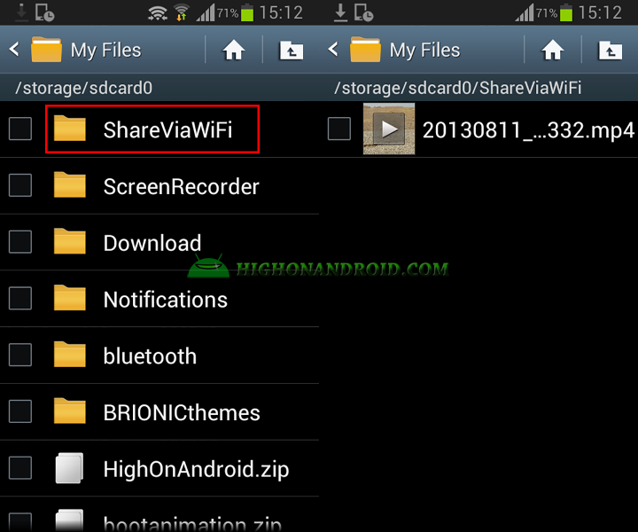 Transfer Large files Between Two Android Devices 8