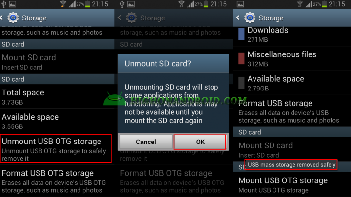 Transfer files from USB Flash Drive to Android Device 6
