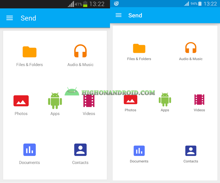 Transfer large files between two android devices with Superbeam