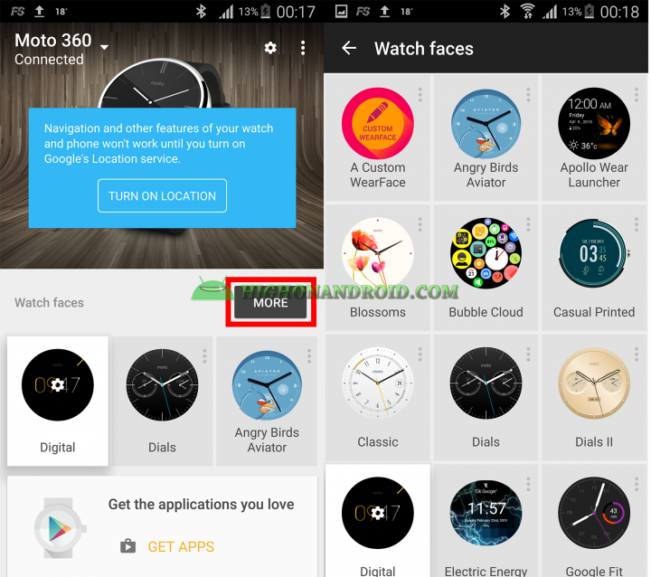 Change Android Wear Watch Face 10