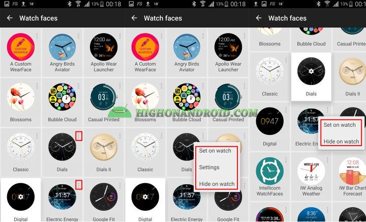 Change Android Wear Watch Face 11