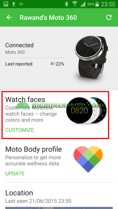 Change Watch Face On Android Wear 10
