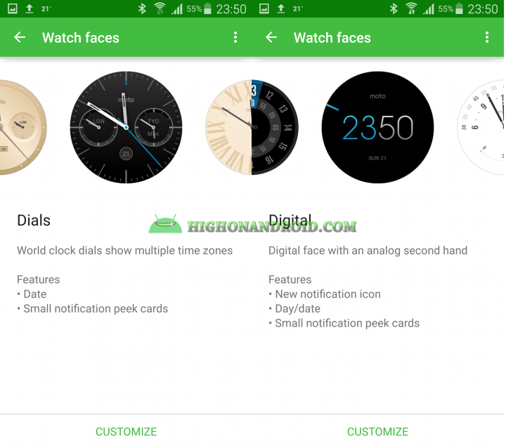 Change Watch Face On Android Wear 11