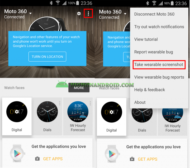 Take Screenshots on Android Wear