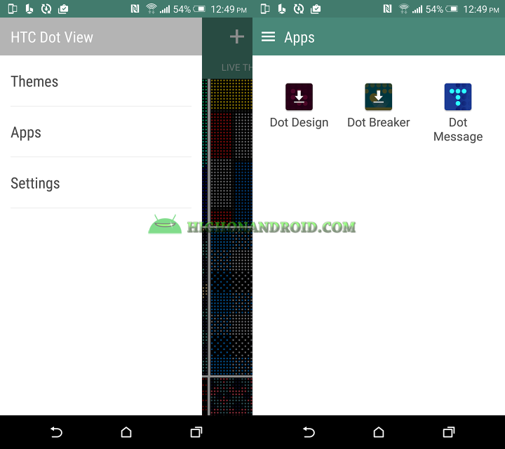How To Customize Dot View Backgrounds on htc one m9 plus 2
