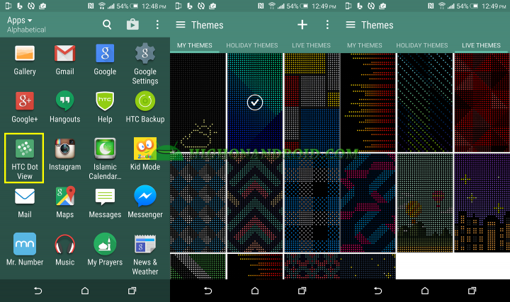 How To Customize Dot View Backgrounds on htc one m9 plus