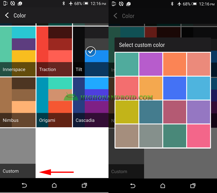 How To Customize and Change Launcher Background on Htc one m9 4