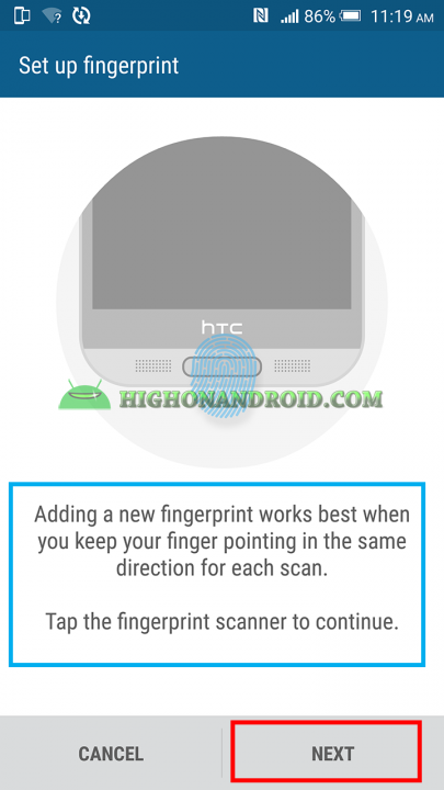 How To Set up Fingerprint scannr on htc one m9 plus 3