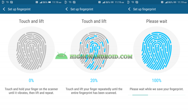 How To Set up Fingerprint scannr on htc one m9 plus 4