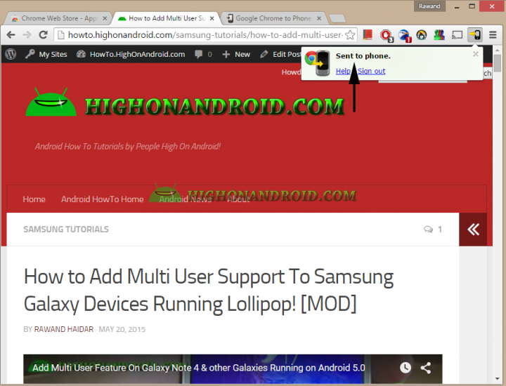 How To Directly Send Web page links from PC to  your android device 14