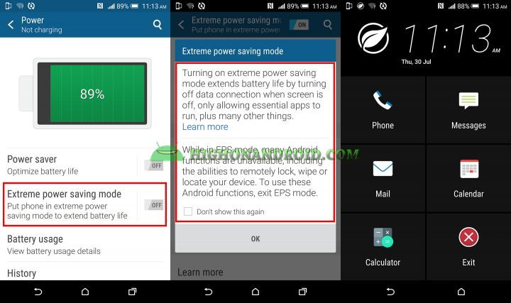 How To Enable Extreme Power Saving Mode On Htc One M9 Plus