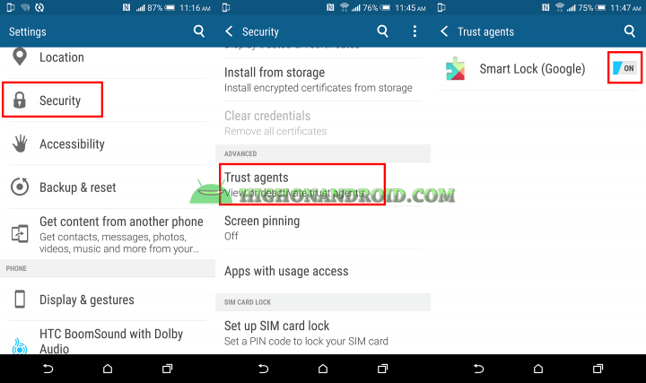 How To Enable Smart Lock Feature on Htc One M9 Plus