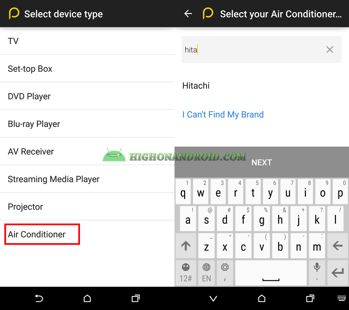 How To use htc one m9 plus as air conditioner controller 2