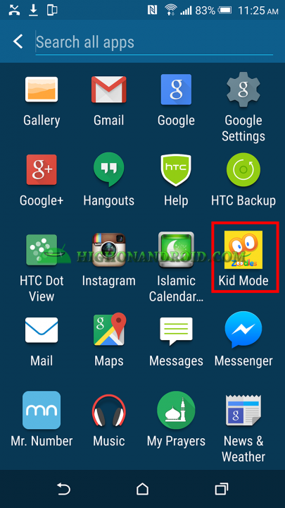 How to Use kid mode on htc one m9 plus