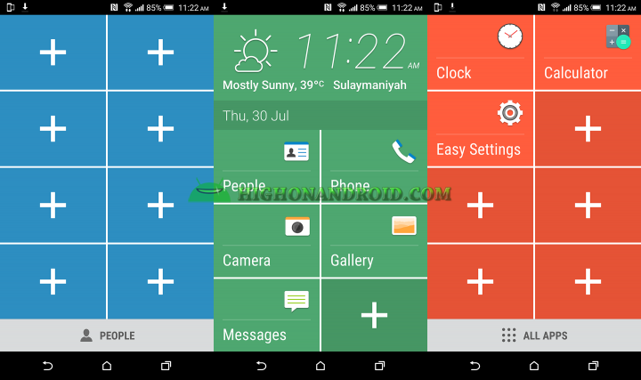 How to use and enable easy mode on htc one m9 plus