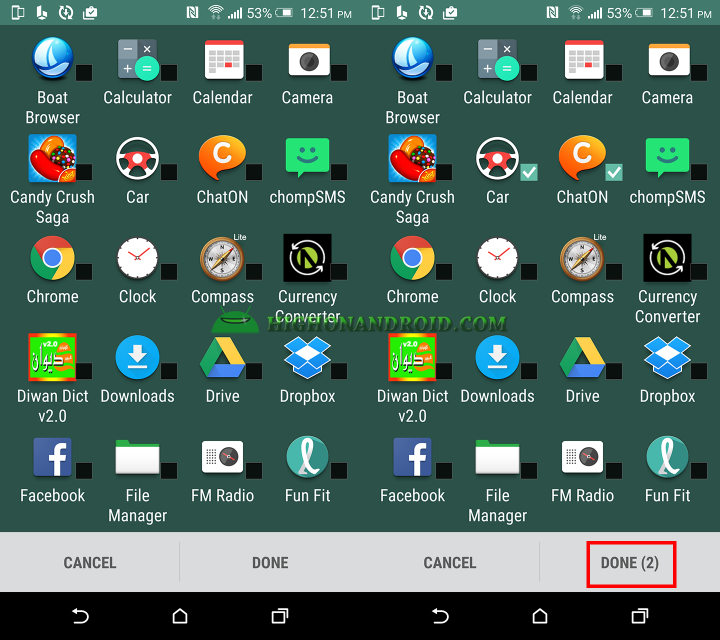 how to hide unhide apps on htc one m9 plus 2