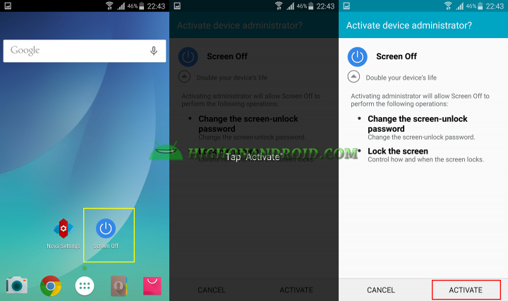 How to double tap to turn off your android screen