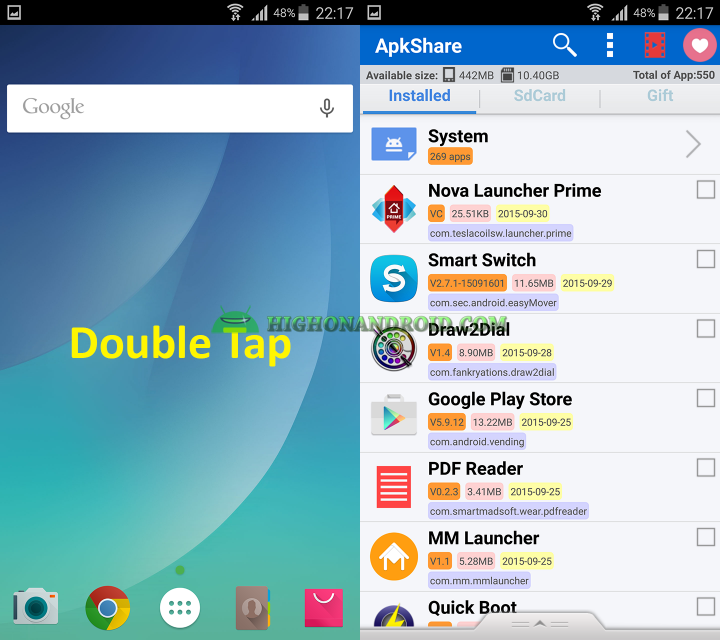 How to launch apps by gesture on Android 5