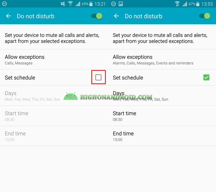How to use do not disturb mode on samsung galaxy devices 7
