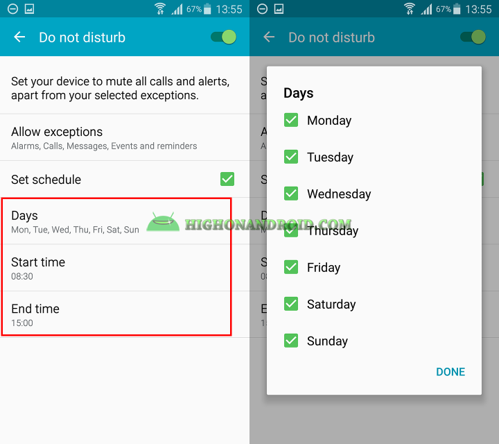 How to use do not disturb mode on samsung galaxy devices 8