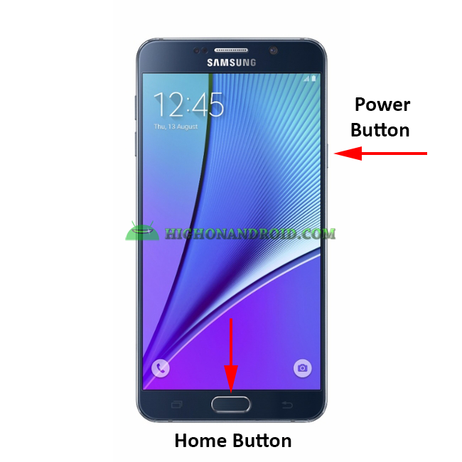 How To Take Screenshots on Galaxy Note 5 method 1