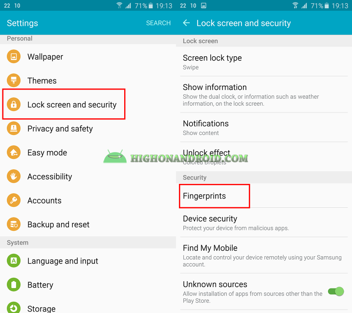 How To enable Fingerprint scanner on Galaxy Note 5