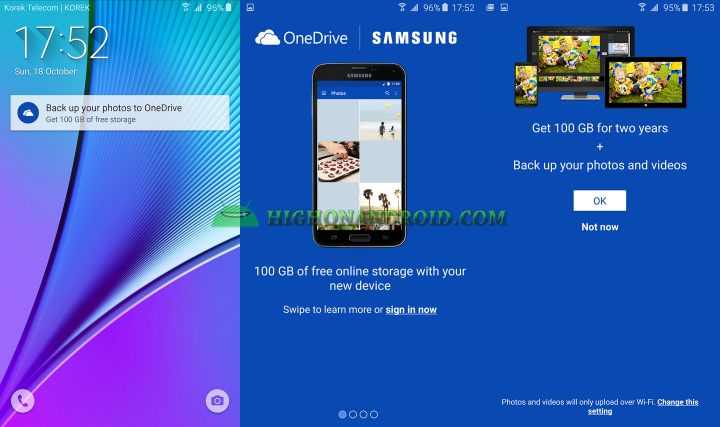 get 100 gb free one drive on galaxy note 5