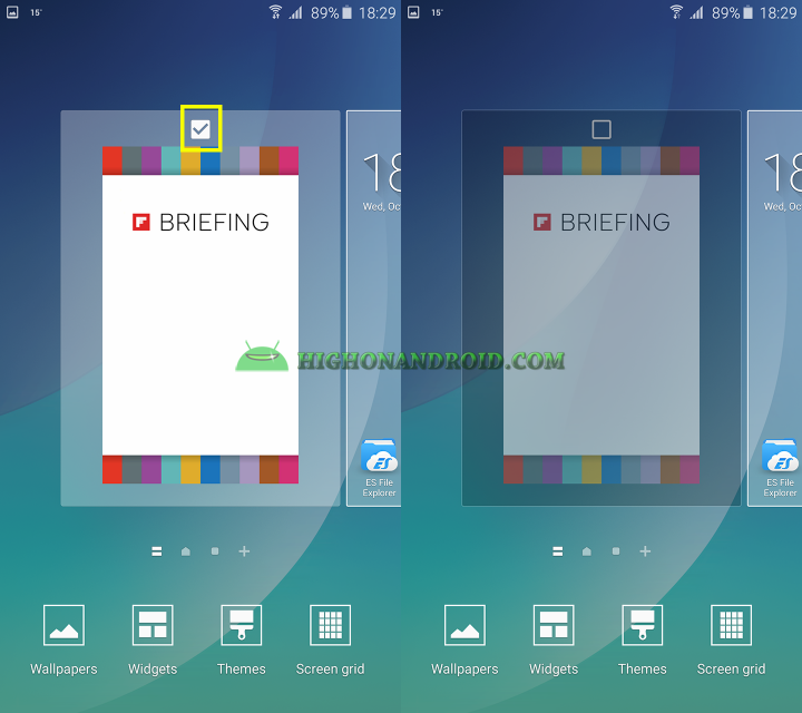 how to disable flipboard briefing on galaxy note 5 2