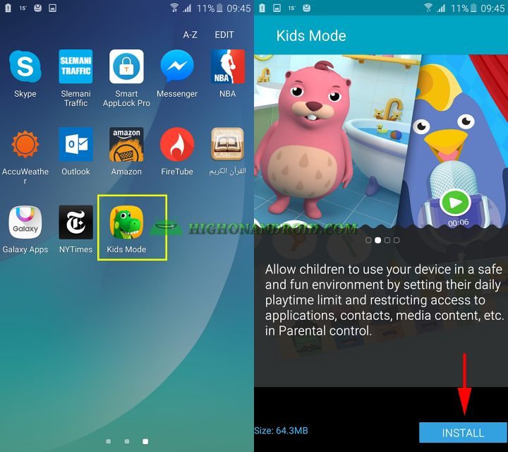 how to use kids mode on galaxy note 5 2