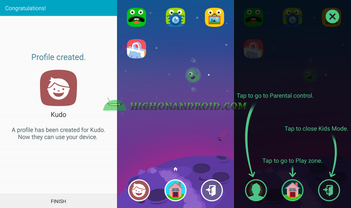 how to use kids mode on galaxy note 5 5